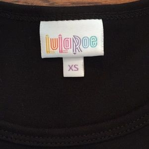 LuLaRoe Tops - Lularoe Black XS Irma (Noir Collection)